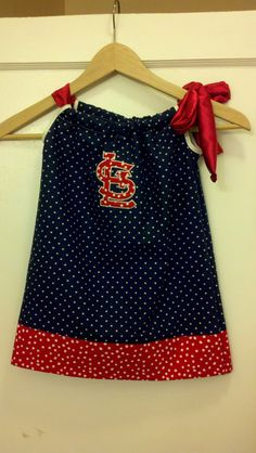 St Louis Cardinals Pillowcase dress - love!