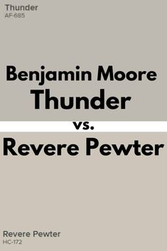 Curious about how these two neutral gray paint colors, Benjamin Moore Revere Pewter and Thunder compare to one another? Benjamin Moore Thunder is an exquisite neutral gray paint color that is a part of the Affinity Color Collection. Benjamin Moore Thunder, Benjamin Moore Bedroom, Benjamin Moore Kitchen, Benjamin Moore Exterior, Revere Pewter Benjamin Moore, Benjamin Moore Paint, Benjamin Moore Colors, Revere Pewter Living Room, Amigurumi