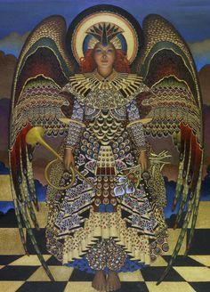 Angel Painting  - Angel Fine Art Print by Jane Whiting Chrzanoska