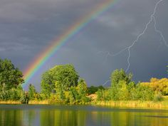 lightening & rainbow!