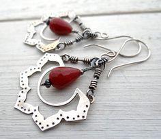 Beaded Lotus Dangle Earrings by Lost Sparrow Jewelry