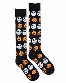 Decorate your feet with these Jack Skellington knee high socks! The perfect addition to your Nightmare Before Christmas socks. Nightmare Before Christmas Merchandise, Nightmare Before Christmas Costume, Christmas Costumes, Halloween Socks, Spirit Halloween, Scotland Castles, Pumpkin Jack, Jack And Sally, Knee High Socks