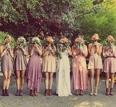 Nice 37 Totally Stylish Bohemian Bridesmaid Dresses Ideas. More at https://outfitsbuzz.com/2018/03/08/37-totally-stylish-bohemian-bridesmaid-dresses-ideas/