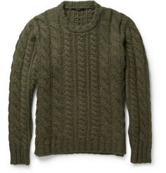 Gucci Cable-Knit Wool-Blend Sweater | MR PORTER