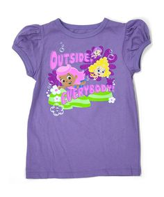 Look what I found on #zulily! Purple Bubble Guppies 'Outside Everybody' Puff Tee - Toddler by Bubble Guppies #zulilyfinds