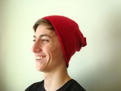 Guy Gift Versatile Cashmere Buff RED Unisex Gaiter by WormeWoole