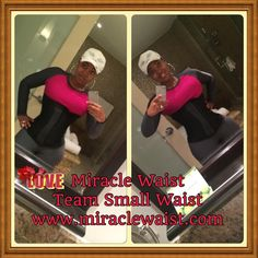 Shashicka Tyre-Hill wearing a black licorice miracle waist trainer! Visit www.miraclewaist.com or call 912-264-9242
