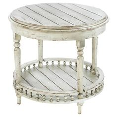 Check out this item at One Kings Lane! Emma Side Table, Distressed White