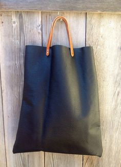 Large leather tote bag by kingstreetcollars on Etsy, $85.00