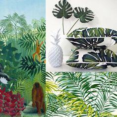 coussin palmiers / Coussins motifs tropicaux / Jungle décoration
