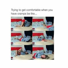How I deal with cramps.