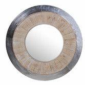 """Found it at Wayfair - Round Aluminum Mirror  33""""  $223  den/bdrm"""