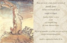 Velveteen Rabbit Baby Shower Invitation and by OliviaRaeDesign