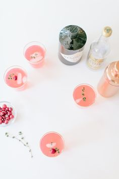 Cranberry Thyme Gin & Tonic cocktails