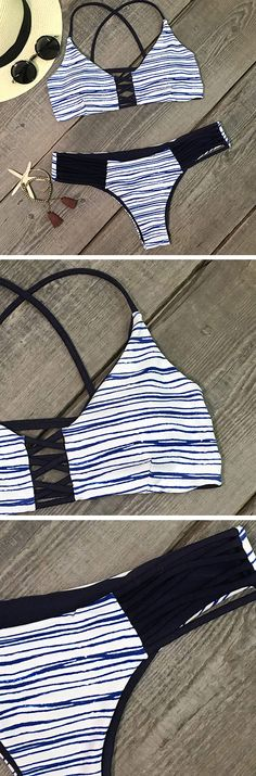 If you're looking for a fun, naughty swimwear for summer, you'll love how perfect this Who I Am Stripe Bikini fits the bill. Find our super stylish swimwear collection at Cupshe.com !