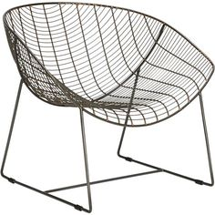 Antiqued powdercoated iron ebbs and flows an undulating grid of surprisingly comfortable contours. Handcrafted to graphic extreme, industrial frame spans a generous seat and back that subtly curve in a single contoured swoop. Chair Fabric, Chair Cushions, Standing Desk Chair, Wire Chair, Metal Grid, Affordable Modern Furniture, Cafe Chairs, Restaurant Chairs, Living Room Chairs