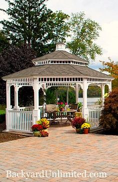 Backyard Unlimited provides a variety of outdoor structures in Northern California. Check out Image in our Gazebos gallery! Screened Gazebo, Gazebo Pergola, Garden Sitting Areas, Northern California, Country Style, New Homes, Backyard, Outdoor Structures, Album