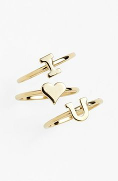 'i love you' rings. Only it would be c heart c