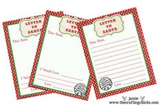 Printables. Letters to Santa
