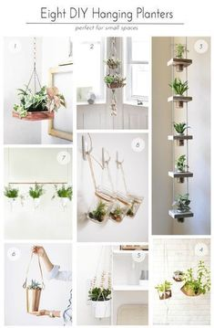 18 DIY garden wood projects for your home on a budget - Diygardensproject.live - 18 DIY garden wood projects for your home on a budget home - Handmade Home, Diy Hanging Planter, Hanging Succulents, Hanging Herbs, Hanging Herb Gardens, Diy Planters, Succulent Pots, Hanging Baskets, Vertical Succulent Gardens