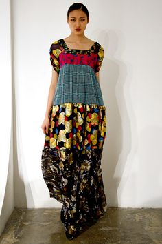Good way to use up lots of odd fabrics and wind up with a charming or maybe even elegant garment!