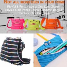 Zipit® Monster Jumbo Pouch Pencil Bag 15x23cm Made from One Long Zipper -Lime | eBay