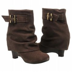 shorter fold over boots in taupe / brown for fall - NAUGHTY MONKEY Women's Misfit Boot