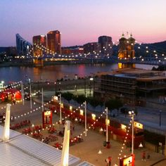 View of Ohio River and Kentucky from Great American Ballpark