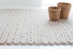 Ethical Rugs by GAN Make Any Space Cosy, especially this knotted wool rug for a neutral rooom. Tapetes Diy, Rope Rug, Painting Carpet, Tapis Design, How To Make Rope, Braided Rugs, Beige Carpet, Rectangular Rugs, Rug Making