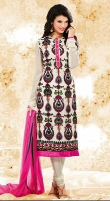 Contemporary Off White Chudidar Kameez