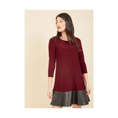 3 A-line Shift (4.545 RUB) ❤ liked on Polyvore featuring dresses, apparel, fashion dress, purple, colorblock dress, purple shift dress, 3/4 sleeve shift dress, red a line dress and purple a line dress