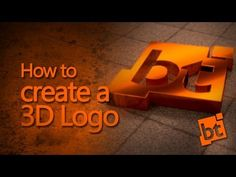 How to create a 3D Logo in Blender - YouTube