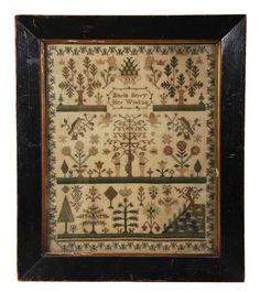Antique Cross Stitch Sampler From 1838 To Help Digest Greasy Food Embroidery