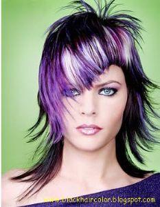 Trendy Purple Coloring Hair Style