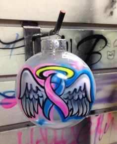 Pregnancy and Infant loss Awareness ornament by UnlimitedAirbrush