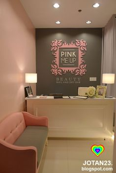 salon Pink Me Up Beauty Nail and Dry Bar: Most Glamorous Nail Salon in Metro Manila - . Pink Me Up Beauty Nail and Dry Bar: Most Glamorous Nail Salon in Metro Manila - When In Manila Nail Salon Design, Nail Salon Decor, Hair Salon Interior, Beauty Salon Decor, Salon Interior Design, Small Beauty Salon Ideas, Salons Decor, Interior Design Magazine, Room Interior