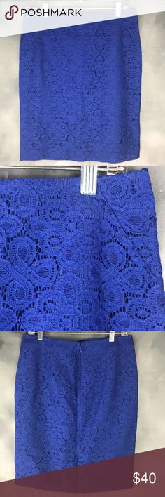 {The Limited} Lace Skirt *Brand New excellent Condition  *Size 8 *Zips Up the back *Fully Lined  *color cobalt blue in my vision The Limited Skirts