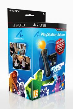 PlayStation Move Starter Pack with PlayStation Eye Camera, Move Controller and Starter Disc Playstation Move, Ps3, Teaser Campaign, Arcade Games, Packing, Console, Branding, Amazon, Games