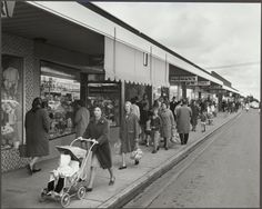 Shopping on Centre Rd, Bentleigh (Wolfgang Sievers) The 'burbs, Melbourne Victoria, The Old Days, Tasmania, Back In The Day, Historical Photos, Old Photos, Sharpies, Sailing