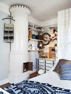 En Suède : un deux-pièces grand comme un loft  // Blog La petite fabrique de rêves