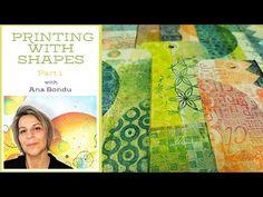 Instinctive printing with Various Shapes by Ana Bondu Part One - YouTube Gel Press, Art Addiction, Gelli Printing, Mixed Media Art, Mix Media, New Series, Pigment Ink, Art Studios, Shapes
