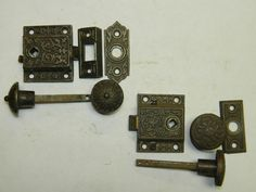 Pins Daddy Door Latch 9 Victorian Screen Set 1890s Cast Iron Box Picture to Pin on Pinterest