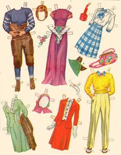 Paper Dolls and Wardbroe box 1944