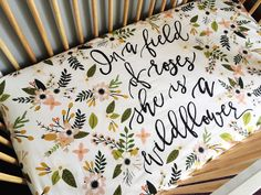 Baby nursery girl modern mint green Ideas for 2019 Gold Nursery, Floral Nursery, Nursery Room, Baby Room, Nursery Decor, Bedroom, Gold Kindergarten, Modern Baby Bedding, Floral Crib Sheet