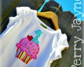Birthday Cupcake any number Custom Made Applique by perryjayne