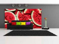 Delicious Watermelon Repositionable Wall Mural by FotoWalls. Custom Removable Wall Murals & Wall Paper. https://www.etsy.com/listing/205085402/delicious-watermelon-repositionable-wall?ref=shop_home_active_9 #interiordesign #homedecor #wallpaper #wallmural #watermelon #fruit