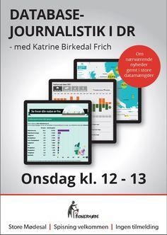 Databaseredaktionen underholder i DR om vores arbejde d. 18/2 2015
