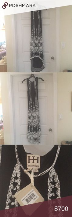 Haute Hippie One of a kind dress! Extra small beautifully beaded dress that since it's handcrafted is one of a kind. It has been carefully hand embellished by skilled craftsmen. Haute Hippie Dresses High Low