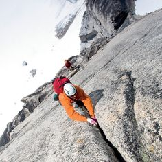 #tbt to the March issue 2013. This was the exact shot I was trying to get says Steve Ogle who photographed Garry Tutte belaying Nelson Rocha on the sixth pitch of an eight-pitch route on Snowpatch Spire in British Columbias Bugaboos. Ogle had climbed the route five years earlier and came back last June knowing that the cracks up high on the wall would offer a good vantage point to shoot the climbers and the glaciers below. I also like it because you can see the ledge we slept on the night…