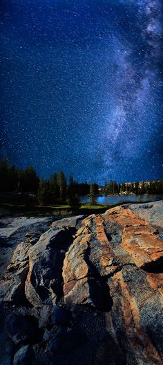 Milky Way at Powell Lake in Sonora Pass.